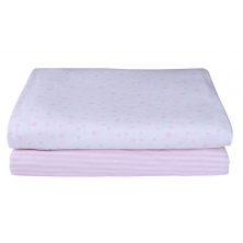 Clair De Lune 2 Pack Fitted Cot Bed Sheets-Pink