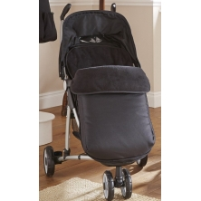 Clair De Lune Universal Pushchair Footmuff-Black
