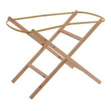 Clair De Lune Ready Assembled Moses Basket Folding Stand-Natural