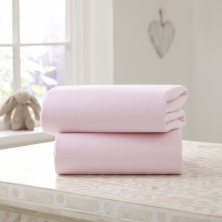 Clair De Lune 2 Pack Fitted Cotton Cot Bed Sheets-Pink