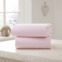 Clair De Lune 2 Pack Cotton Fitted Pram/Crib Sheets- Pink