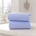 Clair De Lune 2 Pack Fitted Cotton Moses Basket Sheets-Blue