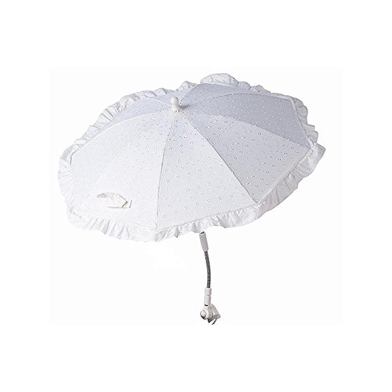 Clair De Lune Broderie Anglaise Sun Parasol-White