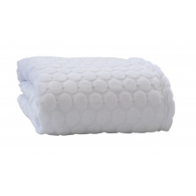 Clair De Lune Marshmallow Blanket-White