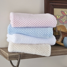 Clair De Lune Honeycomb Baby Blanket-Blue