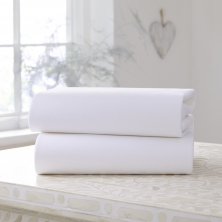 Clair De Lune 2 Pack Fitted Cotton Cot Sheets-White