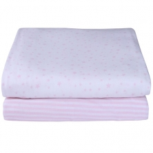 Clair De Lune 2 Pack Cotton Fitted Moses Sheets-Pink