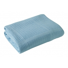 Clair De Lune Cellular Pram Blanket- Blue