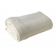 Clair De Lune Cellular Pram Blanket- Cream