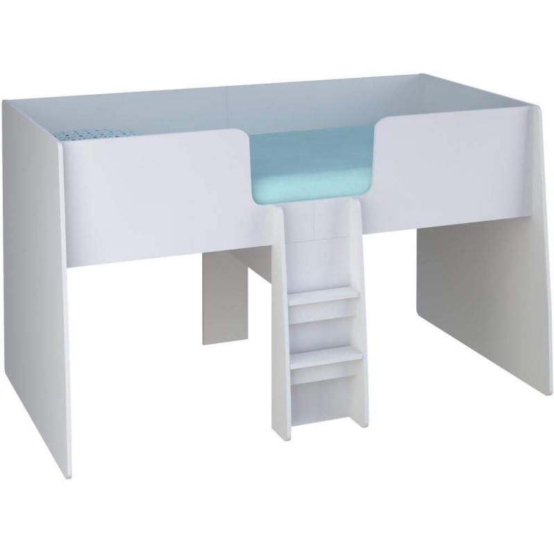 Loft Station Single 3ft Cabin Bed Frame White