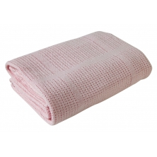 Clair De Lune Cellular Pram Blanket- Pink