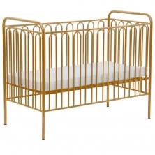 Kidsaw Kudl Kids Vintage Metal Baby Cot With FREE Fibre Mattress-White-Gold