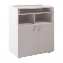Kidsaw Kudl Kids Changing Board Cupboard with Storage-White