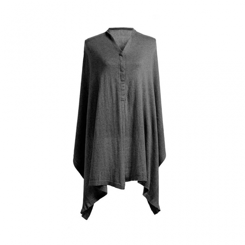 Storksak Mother's Cocoon Shawl-Charcoal