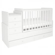 Kidsaw Kudl Simple Collection Cot Bed-White