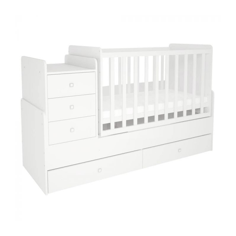 Kidsaw Kudl Simple Collection Cot Bed White