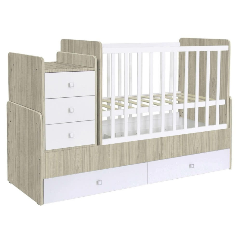 Kidsaw Kudl Simple Collection Cot Bed  Elm White