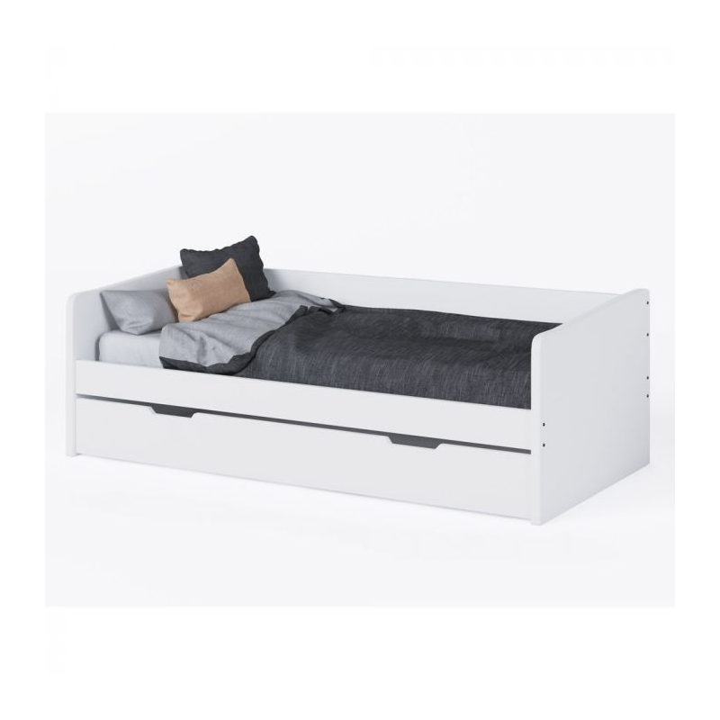 Kudl Day Bed with Trundle-White