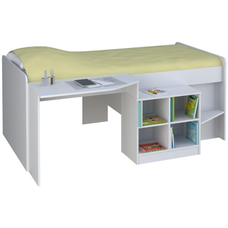 Kidsaw Loft Station Pilot Cabin Bed-White