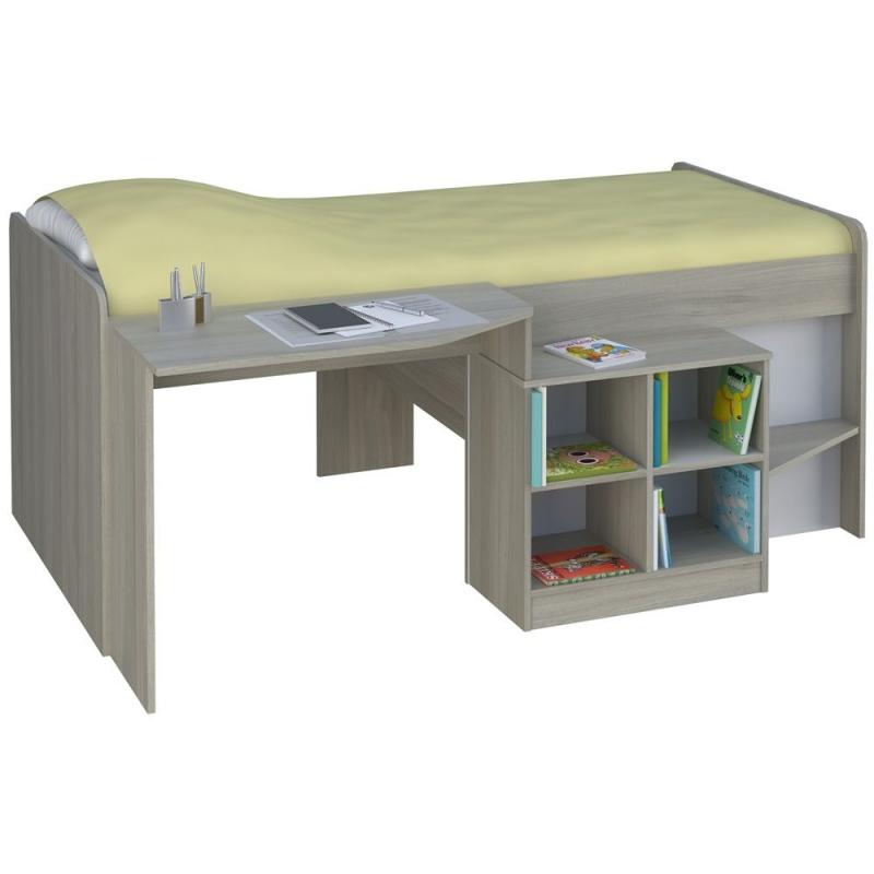 Kidsaw Loft Station Pilot Cabin Bed-Elm