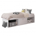 Kidsaw Low Single Cabin Bed-White