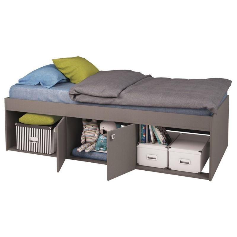 Kidsaw Low Single Cabin Bed-Grey