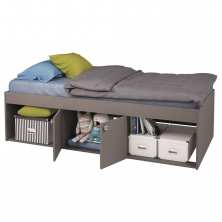 Kidsaw Low Single Cabin Bed-Grey
