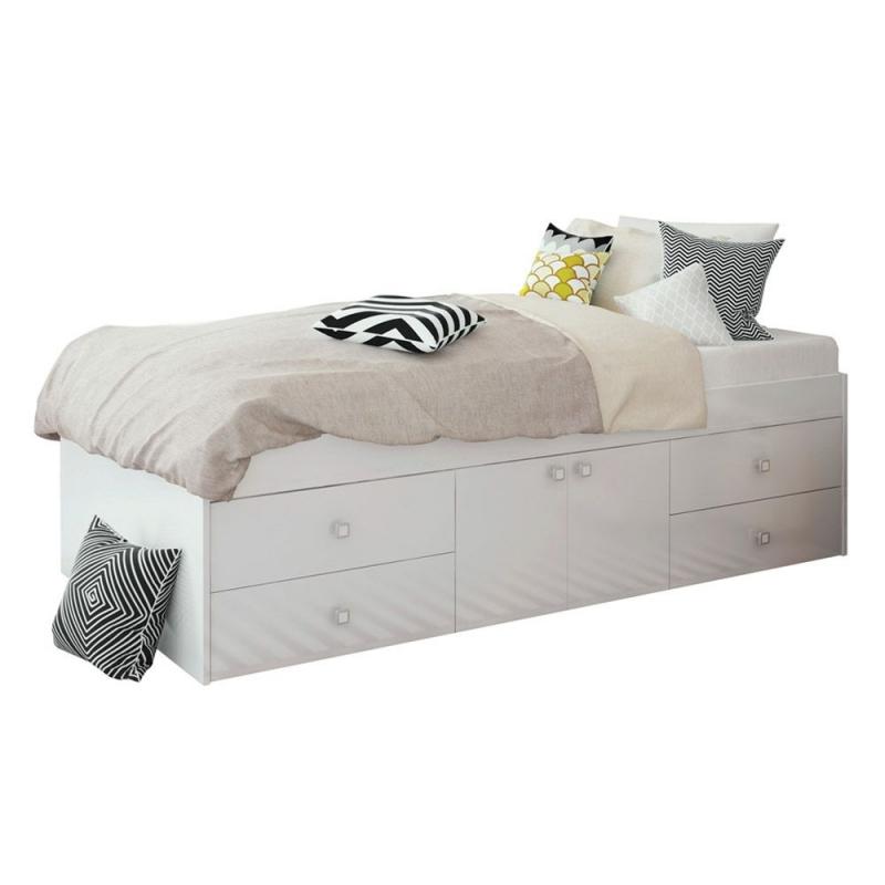 Captain's Single Cabin Bed-White
