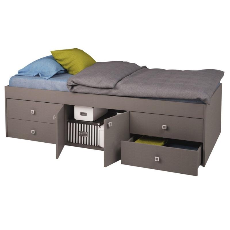 Captain's Single Cabin Bed-Grey