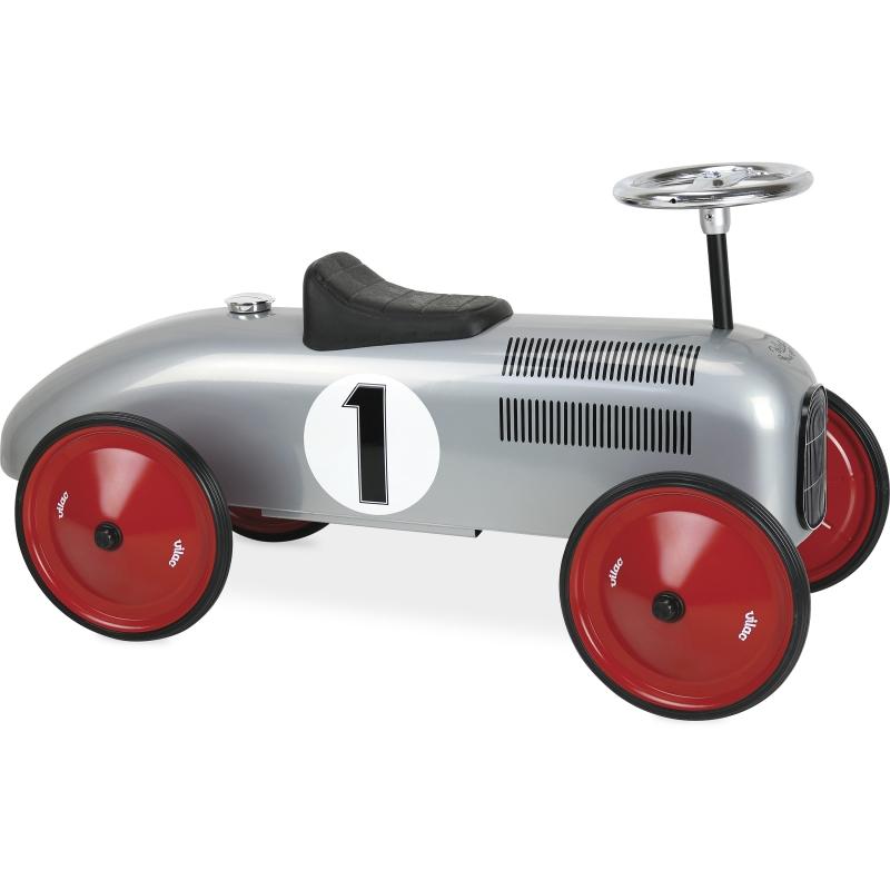Vilac Classic Ride On Metal Car- Grey