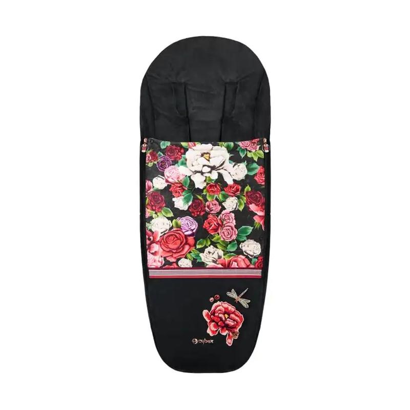 Cybex Spring Blossom Dark Platinum Footmuff-Black (New 2020)