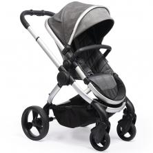 iCandy Peach Satin Stroller + Maxi Cosi Cabriofix 0+ Car Seat -Dark Grey Check (New 2020)