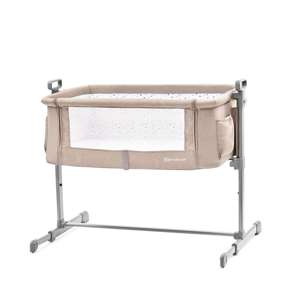 Kinderkraft Neste Bedside Travel Baby Cot-Beige