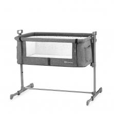 Kinderkraft Neste Bedside Travel Baby Cot-Grey Melange
