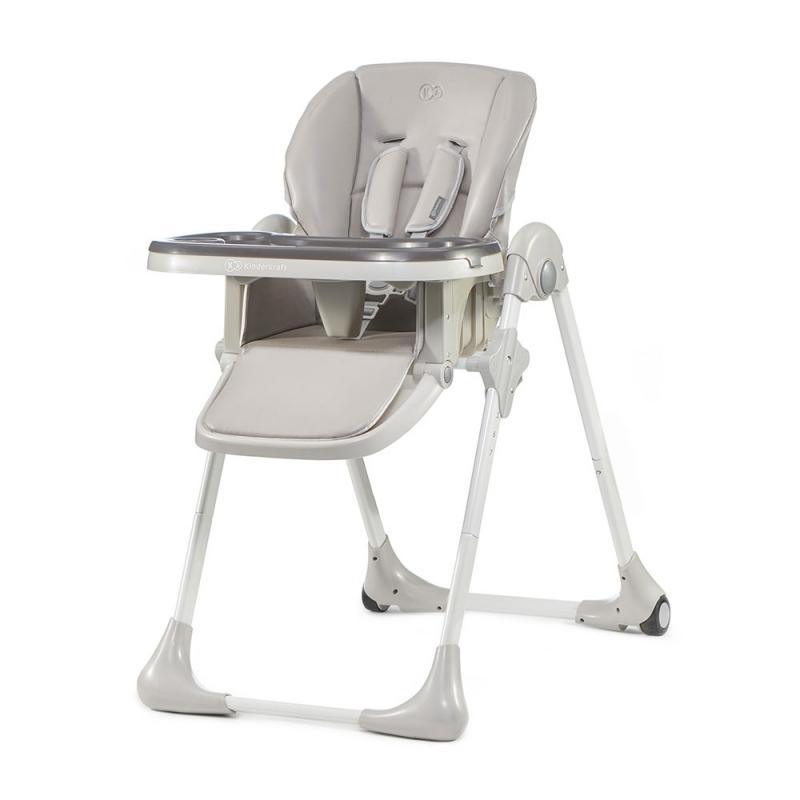 Kinderkraft Yummy High Baby Feeding Chair-Grey