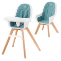 Kinderkraft Tixi 2in1 High Baby Feeding Chair-Turquoise