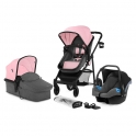 Kinderkraft Juli 3in1 Travel System-Pink
