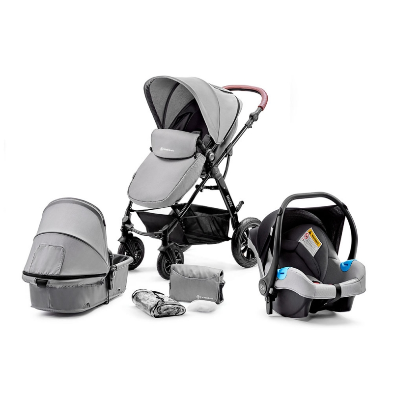 Kinderkraft Moov 3in1 Travel System-Grey