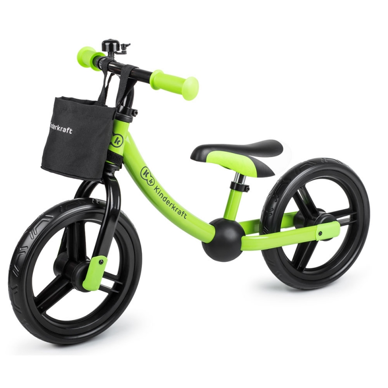 Kinderkraft 2Way Next Balance Bike with Accessories-Green