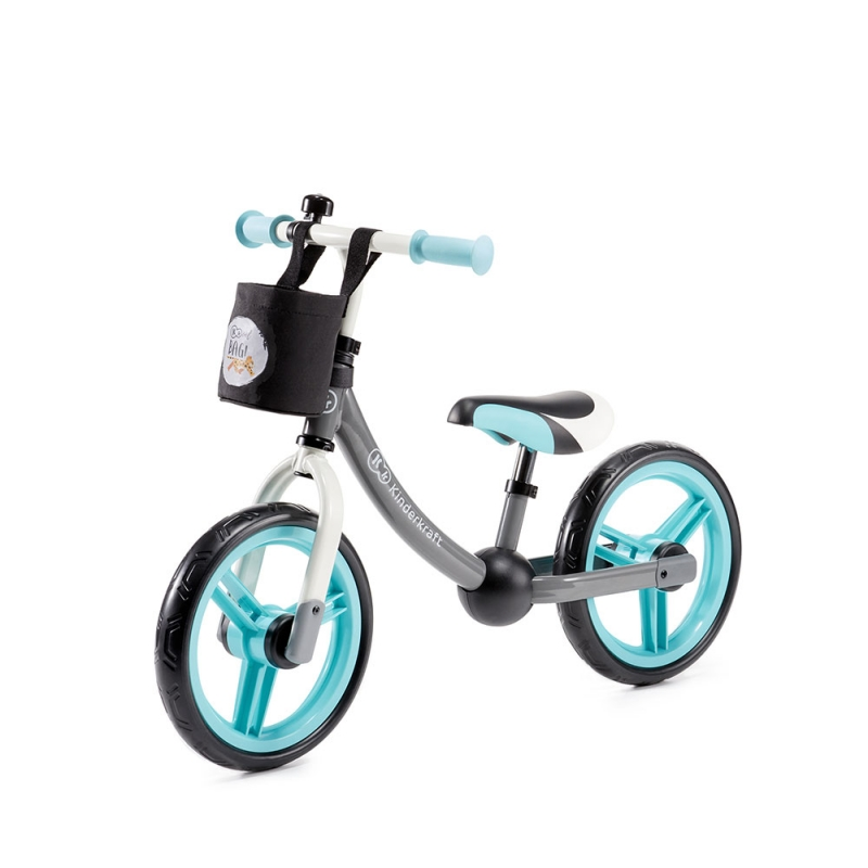 Kinderkraft 2Way Next Balance Bike with Accessories-Turquoise