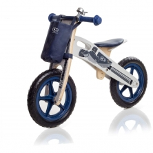 Kinderkraft Runner Motorcycle Balance Bike with Accessories-Blue/Grey