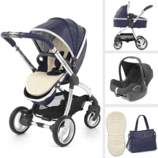 egg® Special Edition 2in1 Cabriofix Travel System With Changing Bag & Cream Fleece Seat Liner-Serpent + FREE Carrycot!