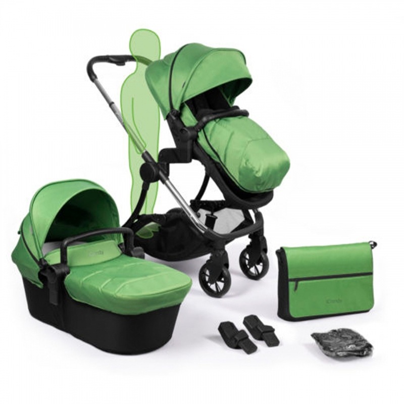 iCandy Lime Plus Stroller-Chrome/Lime (New)