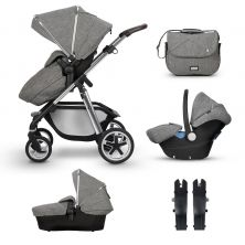 Silver Cross Pioneer Travel System Bundle-Brompton