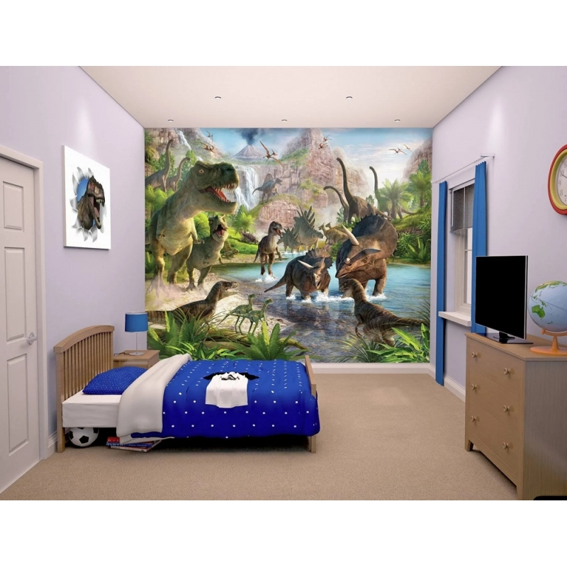 Wall Mural-Dinosaur Land