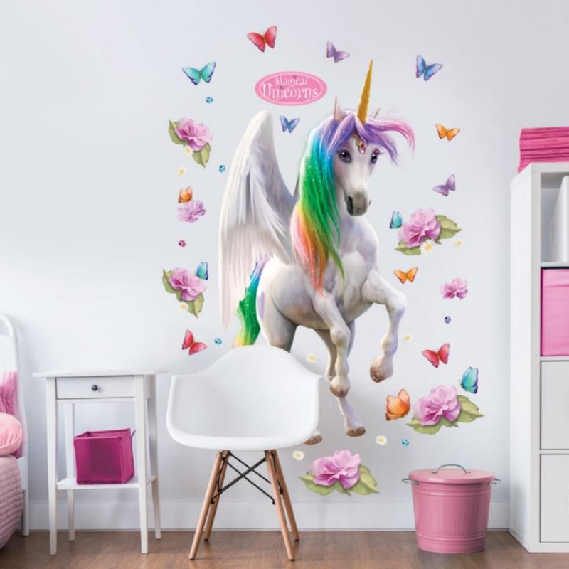 Walltastic Large Character Sticker-Magical Unicorn