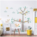 Large Character Sticker-Woodland Tree & Friends