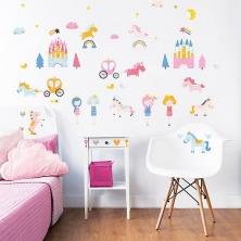 Walltastic Wall Stickers-Unicorn Kingdom