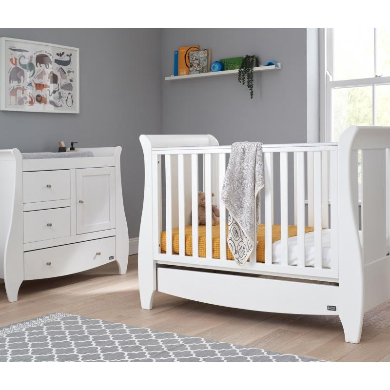Tutti Bambini Katie 2 Piece Sleigh Room Set-White