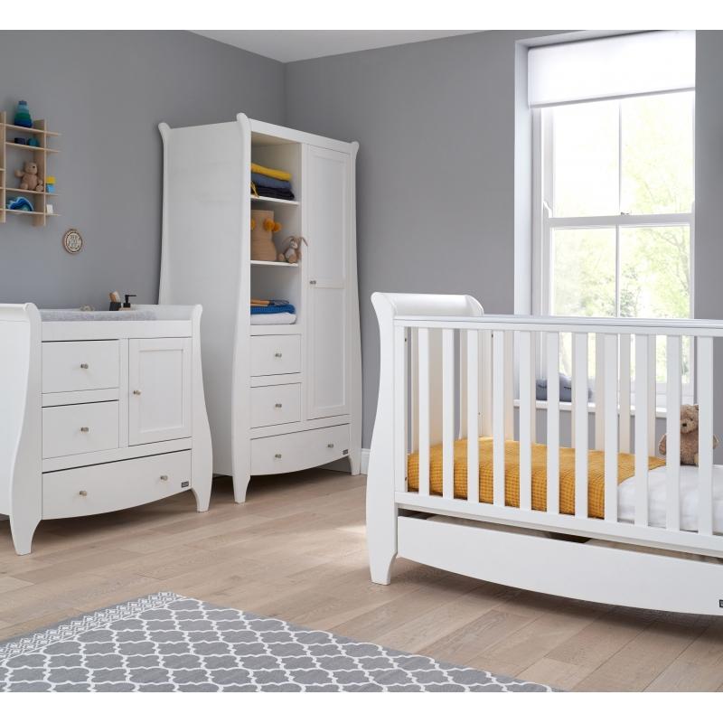 Tutti Bambini Katie 3 Piece Sleigh Room Set-White